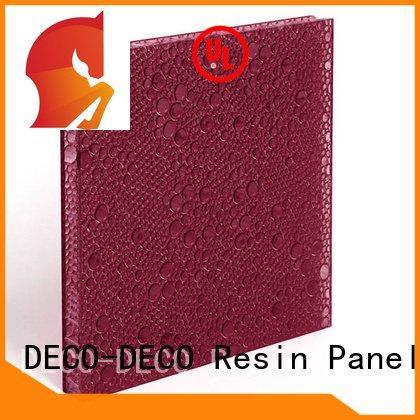 DECO-DECO Brand pomegranate persimmon polyester acoustic panels cobalt bark