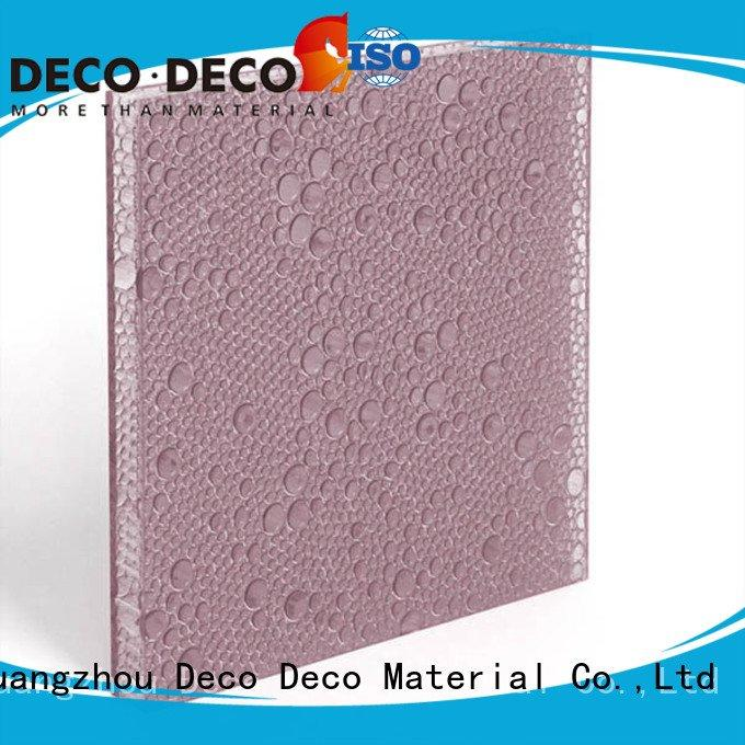Custom polyester resin panels monsoon root powder DECO-DECO