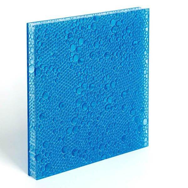 translucent resin panel Cobalt