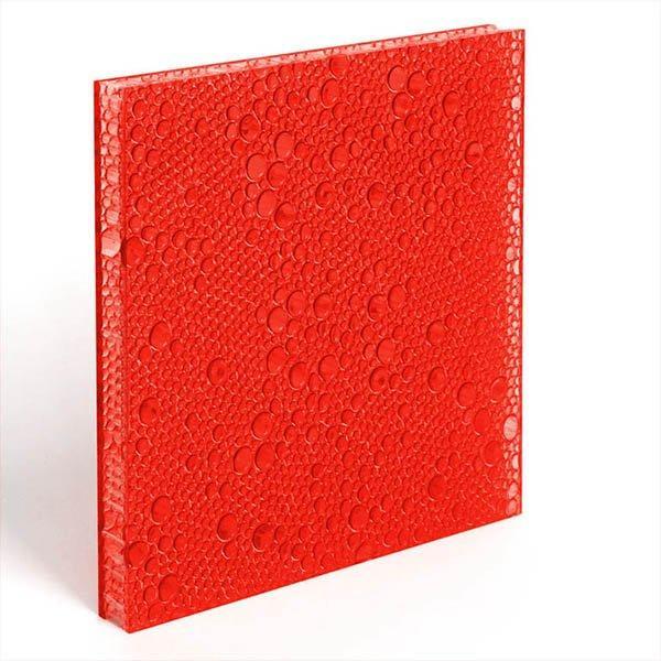 translucent resin panel Cranberry