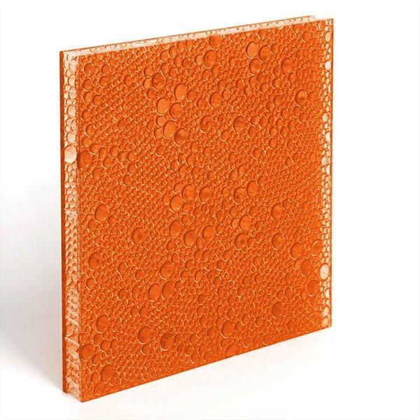 translucent resin panel Persimmon