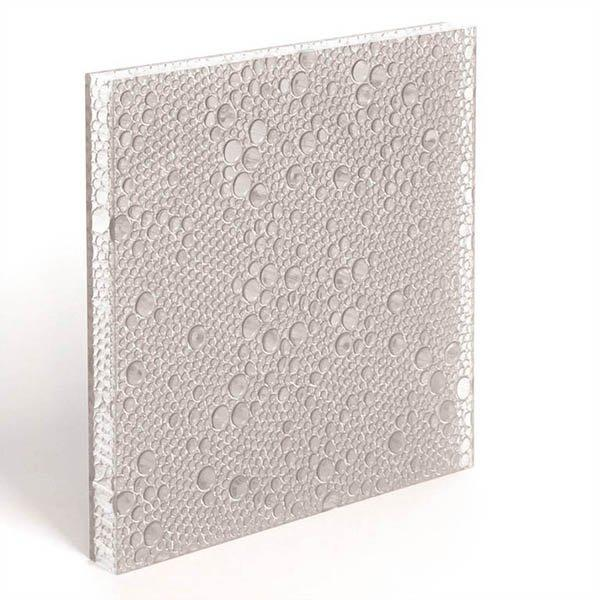 translucent resin panel Pewter