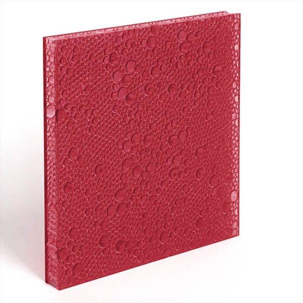 translucent resin panel Pomegranate