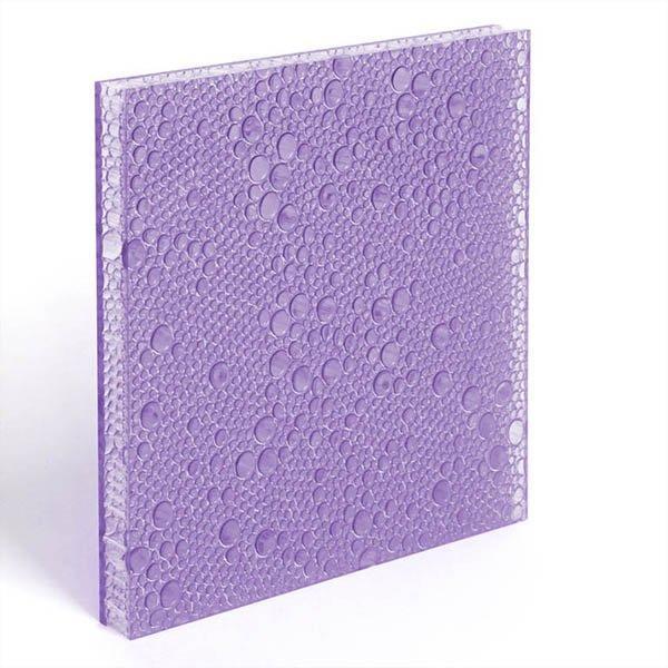 translucent resin panel Violet
