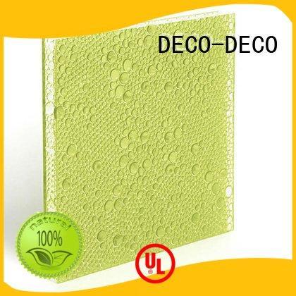 ivory powder blush polyester resin panels DECO-DECO