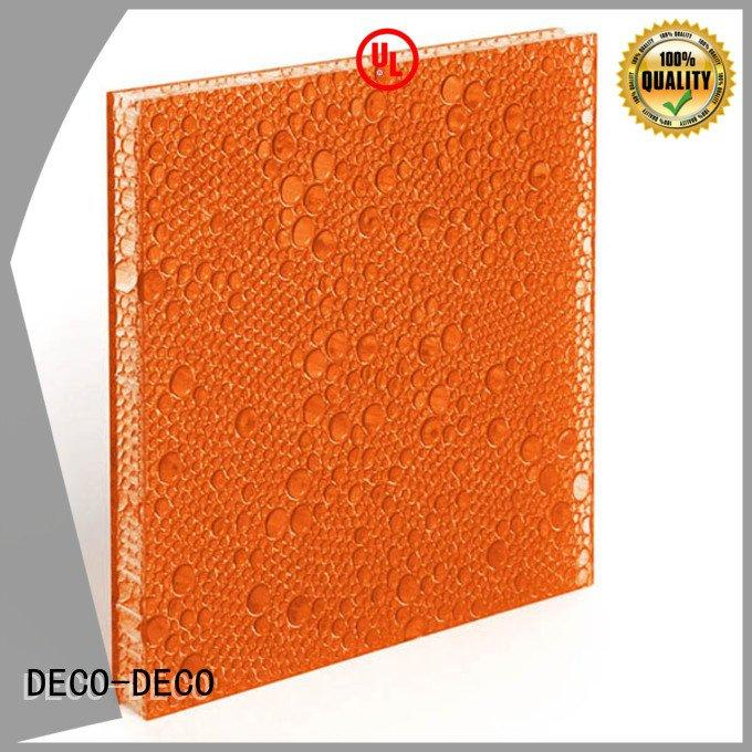 DECO-DECO Brand deep end polyester resin panels ghost pop