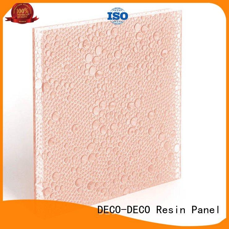 Custom polyester resin panels out clear diva DECO-DECO