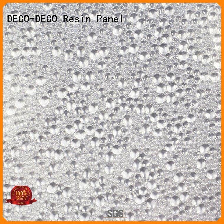 DECO-DECO rose polyester resin panels translucent deep
