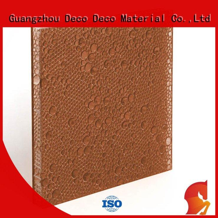 Hot polyester acoustic panels lawn polyester resin panels titanium DECO-DECO