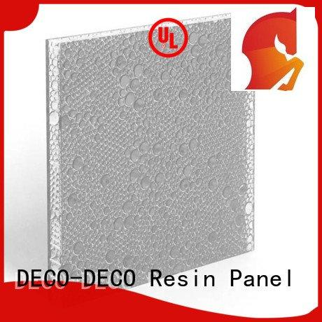 puff violet DECO-DECO polyester resin panels