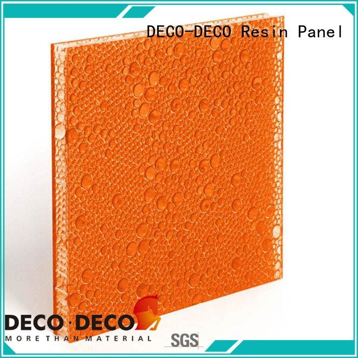 polyester acoustic panels bark root polyester resin panels DECO-DECO Warranty