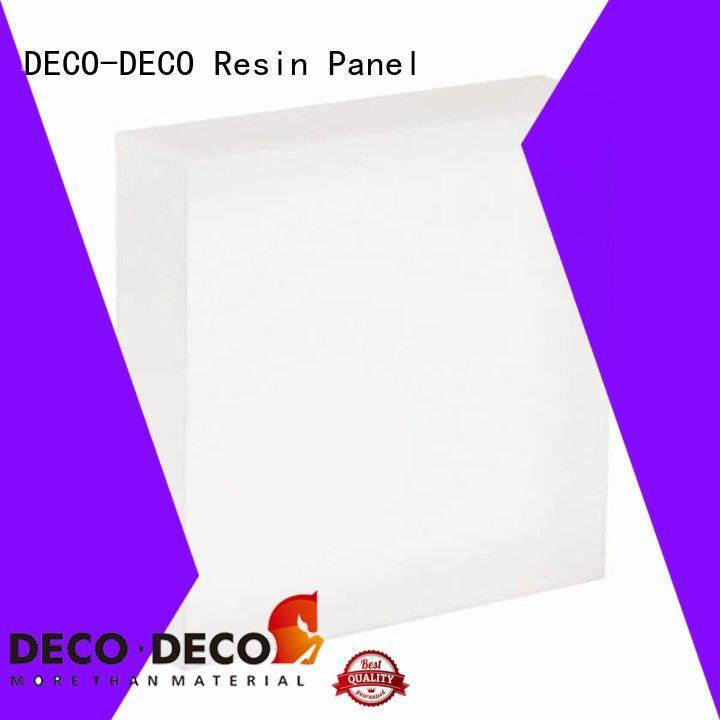 DECO-DECO multicolor translucent resin panels wholesale for restaurant
