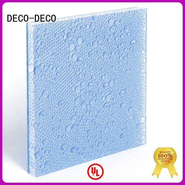 polyester acoustic panels rose DECO-DECO Brand polyester resin panels