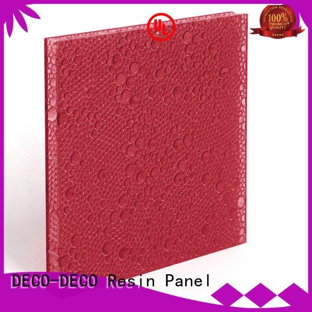 polyester acoustic panels indigo clear OEM polyester resin panels DECO-DECO