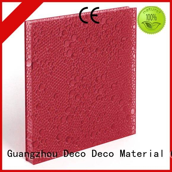 DECO-DECO polyester resin panels midnight camel thunder rose
