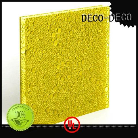 polyester acoustic panels ivory polyester resin panels DECO-DECO