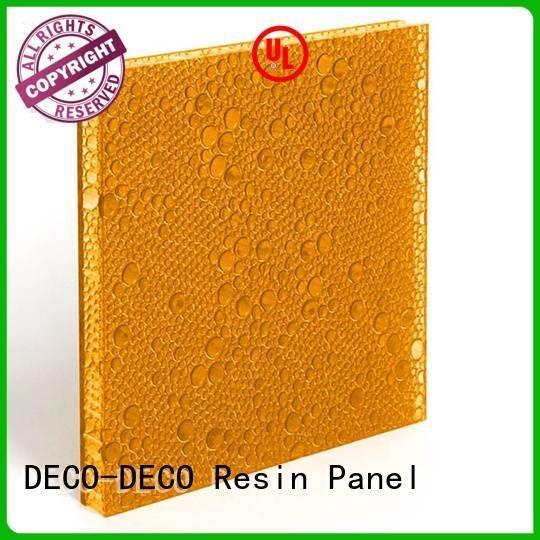 DECO-DECO Brand diva resin cherry polyester resin panels persimmon