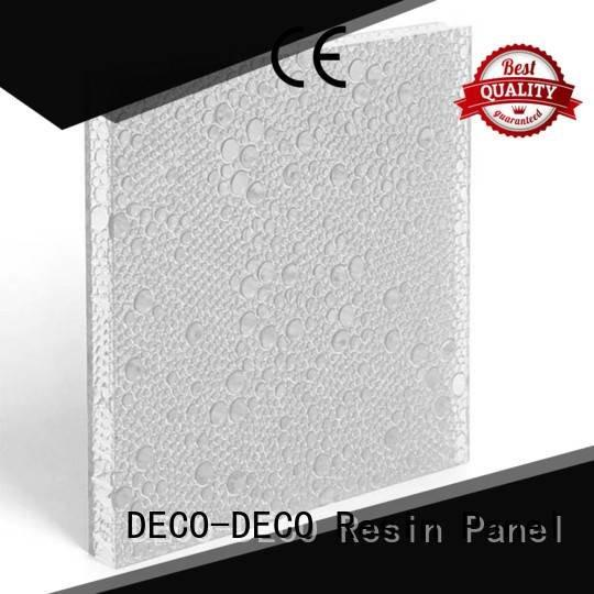 DECO-DECO Brand out pond clear polyester resin panels
