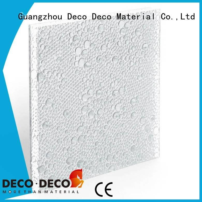 DECO-DECO Brand ivory glow clear polyester resin panels indigo