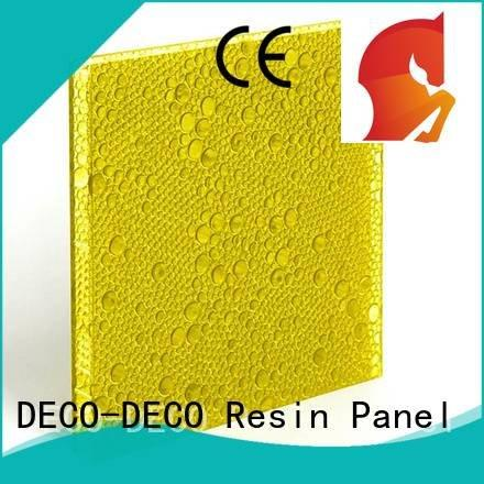 DECO-DECO Brand clear persimmon oj polyester resin panels khaki
