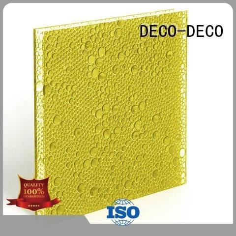 DECO-DECO polyester resin panels violet ivory ash eggplant