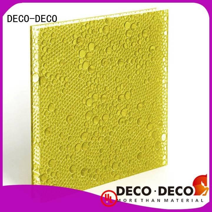 polyester acoustic panels powder polyester resin panels translucent DECO-DECO