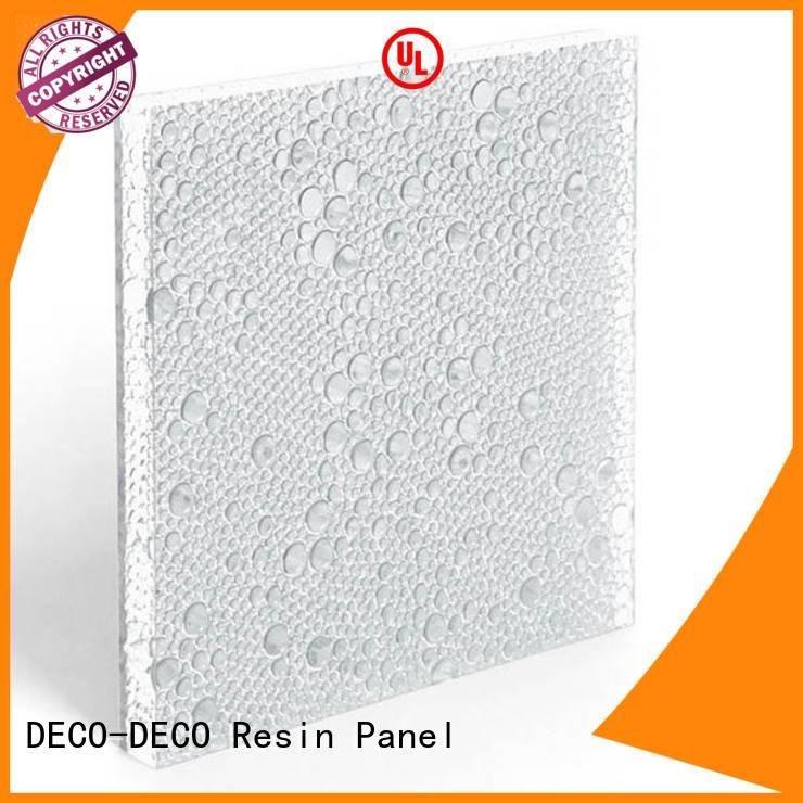 DECO-DECO polyester acoustic panels vitamin rose titanium resin