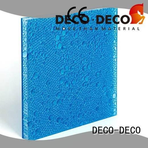 DECO-DECO Brand ivory end polyester acoustic panels aloe pop