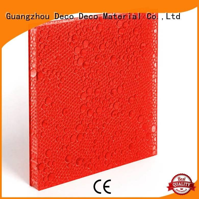 polyester acoustic panels persimmon deep polyester resin panels DECO-DECO Warranty