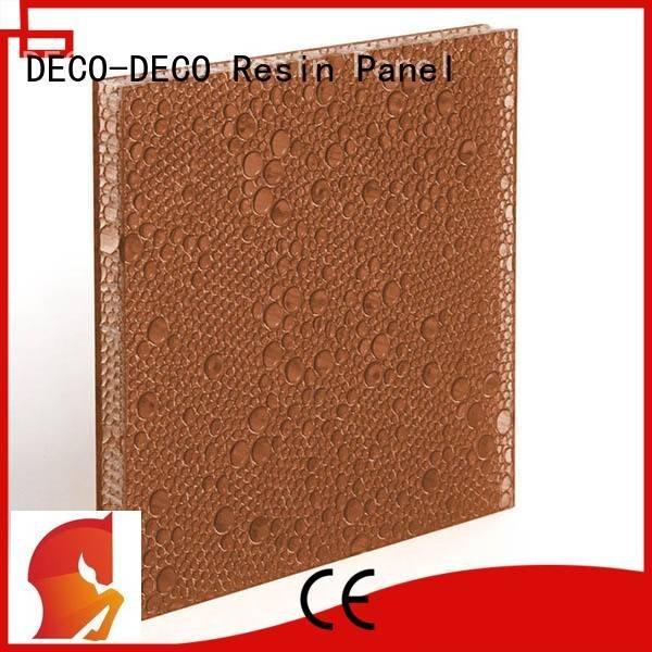 polyester acoustic panels translucent violet OEM polyester resin panels DECO-DECO