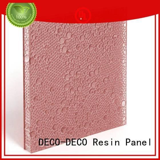 DECO-DECO polyester acoustic panels blush out translucent