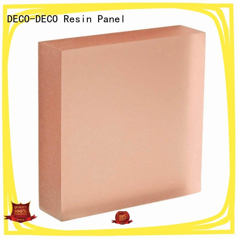 organic material translucent resin panels wholesale for home decoration DECO-DECO