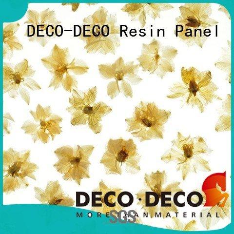 Hot decorative translucent panels harvest leaf lily DECO-DECO Brand