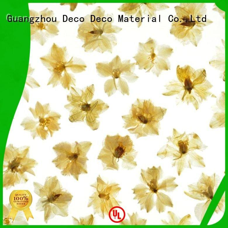 leaf lily timber ring DECO-DECO decorative translucent panels