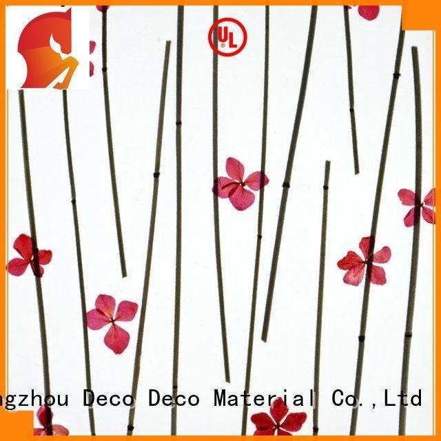 Hot decorative translucent panels poppy ring material DECO-DECO Brand