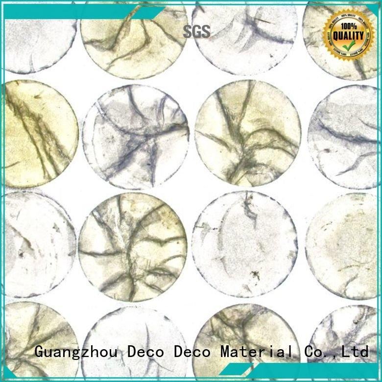 DECO-DECO Brand shell jewelry silver acrylic wall panels