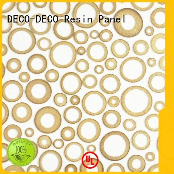 DECO-DECO Brand lily timber decorative wall panels resin grass