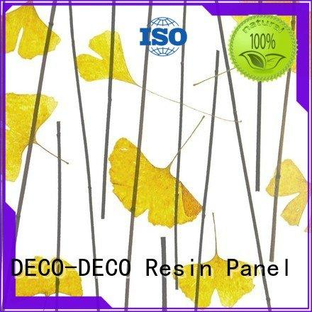decorative translucent panels timber ochid DECO-DECO Brand