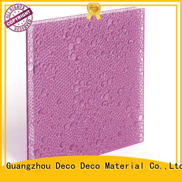 DECO-DECO environmentally friendly polyester panel organic materials for restaurant