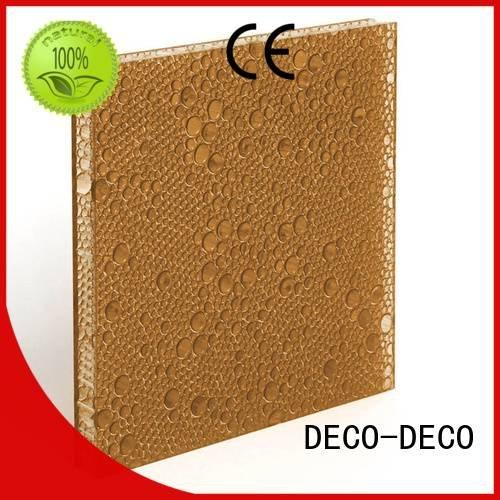 DECO-DECO deep moss ivory polyester acoustic panels rose