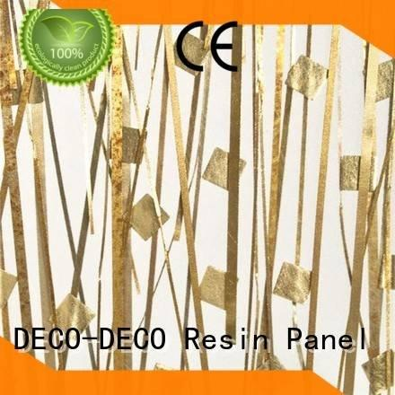 silver luxury resin Metal resin panel DECO-DECO